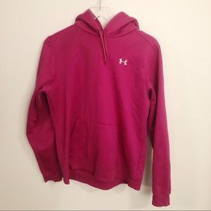 Under Armour Youth Hooded Sweatshirt Pink Sz XL